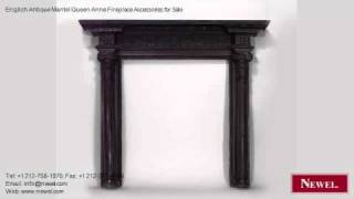 English Antique Mantel Queen Anne Fireplace Accessories