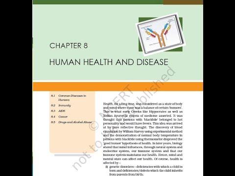 ch. 8 Human Health and Disease class 12 biology