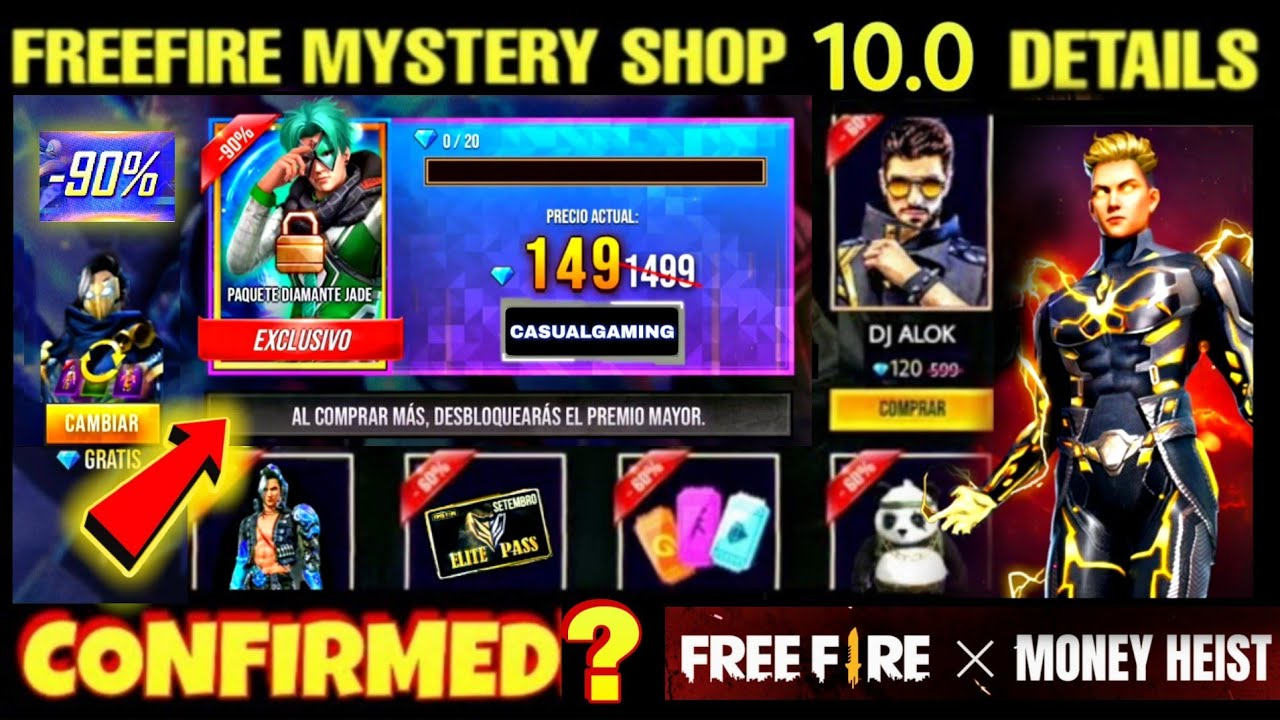 FREE FIRE NEW UPCOMING MYSTERY SHOP 10.0 IN AUGUST 2020 | ELITE HAYATO EVENT | FREE FIRE NEW EVENT