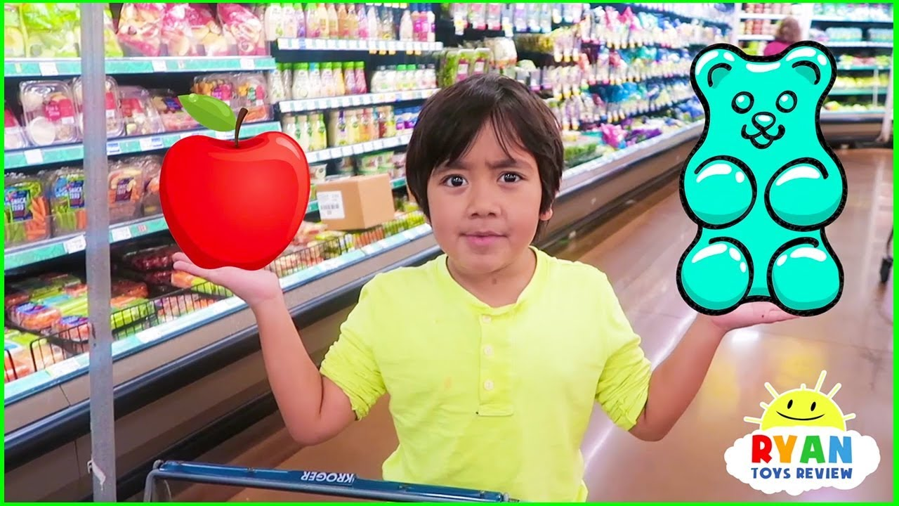 Download Ryan with Kids Size Shopping Cart Learn Healthy Food Choices!!!