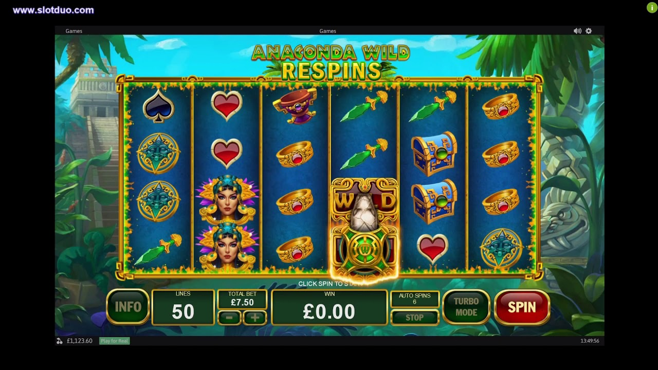 Example of the slot machine called Anaconda Wild