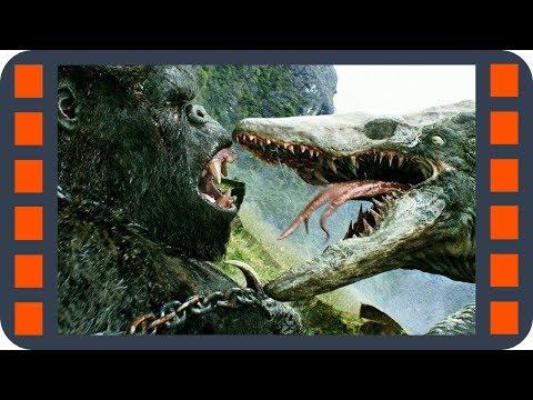 Конг дерется с черепозавром — «Конг: Остров черепа» (2017) сцена 7/8 HD