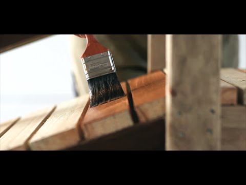 how to stain exterior timber youtube
