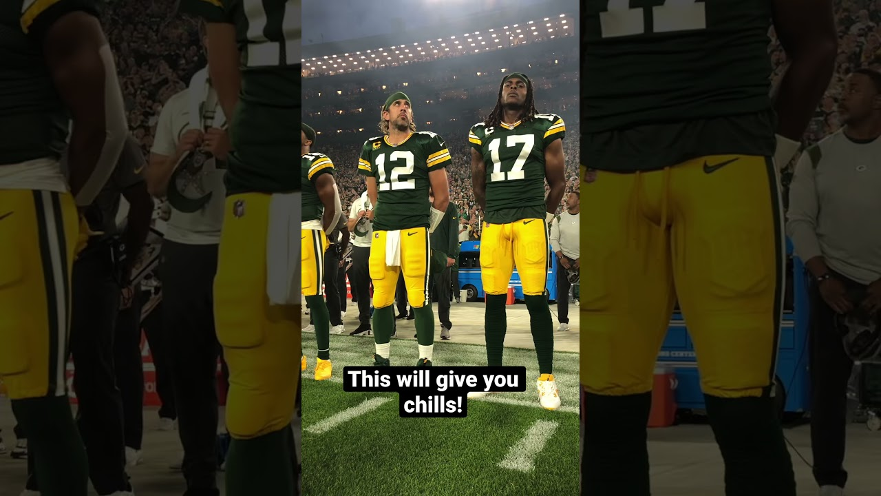 Aaron Rodgers and Davante Adams were impressed with the jet flyover! #shorts