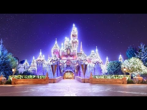 2018 sleeping beauty castle christmas holiday dream lights at disneyland youtube