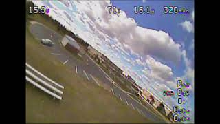 Stryker F27q with ghetto FPV setup maiden in bad conditions ***EXTREMELY WINDY***