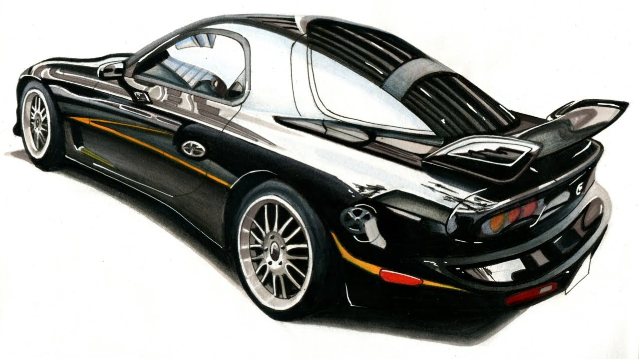 It's just a picture of Crazy Mazda Rx7 Drawing