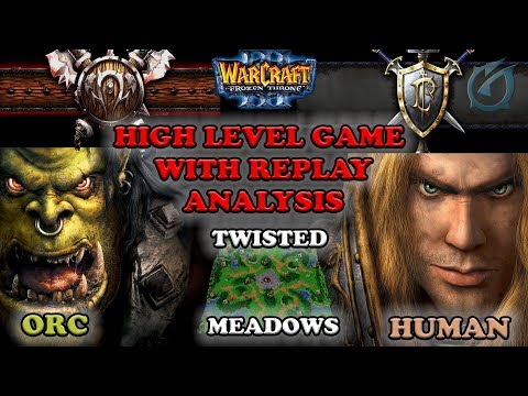 Grubby | Warcraft 3 The Frozen Throne | Orc v HU - High Level Play w Replay Analysis-Twisted Meadows