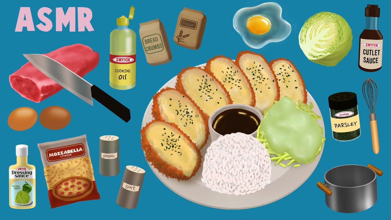 [ASMR |스톱모션] 치즈듬뿍 치즈돈가스 만들기 | cooking asmr | pork cutlet | tonkatsu | stop motion