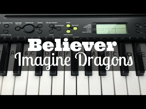 Believer – Imagine Dragons | Easy Keyboard Tutorial With Notes