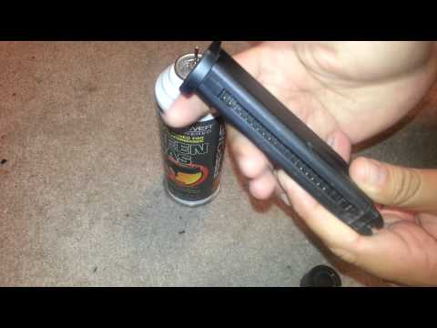 How To Properly Fill an AIRSOFT Gas Magazine With Green Gas or Propane