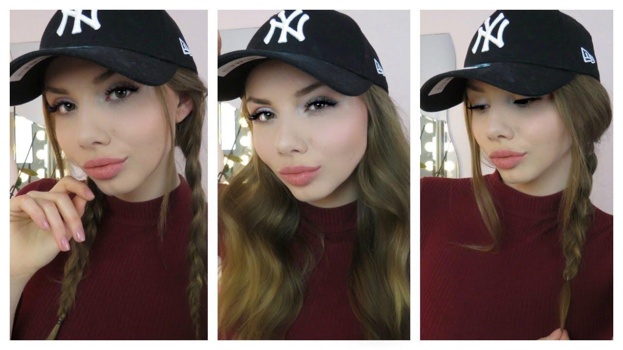 5 baseball cap frisuren / hairstyles / einfach & schnell - youtube