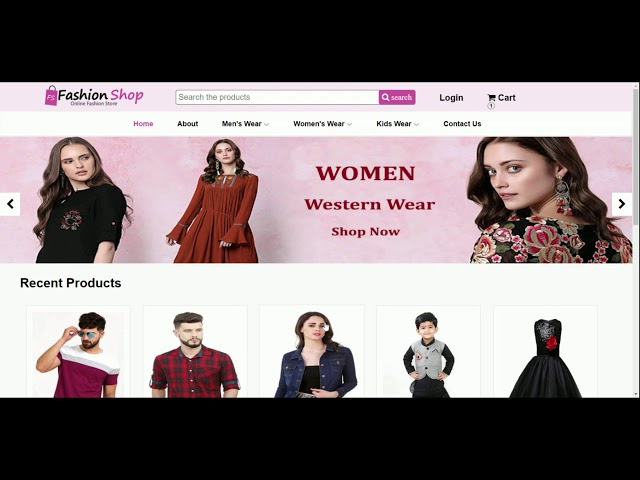 Online Shopping Cart  - Web Development project by our Student - Kavyashree