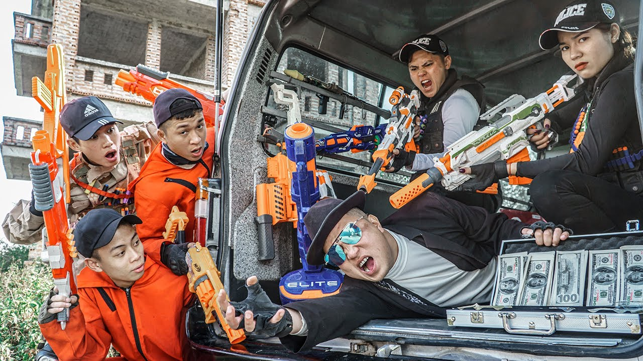 LTT Nerf War : PRO TASK FORCE SEAL X Warriors Nerf Guns Fight Dr Ken Crazy Arrest Criminal Coalition