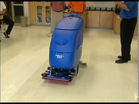 Nichols Video Promoting The Clarke Boost Auto Floor Scrubber   YouTube