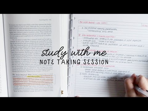 study with me: note taking session