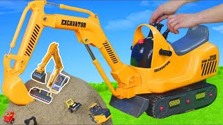 Excavator Ride On, Trucks & Crane Street Construction Toy Vehicles for Kids | Bruder & Tonka Toys