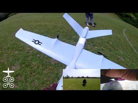 Z51 Predator RC Airplane Part 3 Mods FPV gear tests