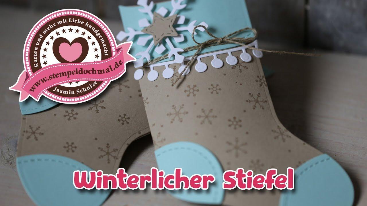 Nikolaus Stiefel aus Stoff My beautiful Paper
