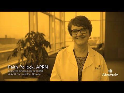 Faith Pollock, APRN, diabetes clinical nurse specialist, Abbott Northwestern Hospital