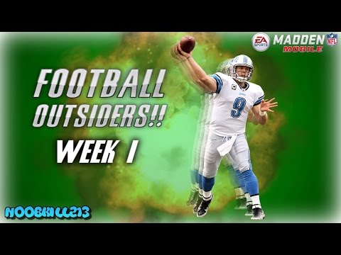 Madden Mobile 17 Football Outsiders Players WEEK 1!!