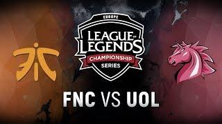 FNC vs. UOL - Week 9 Day 2 | EU LCS Summer Split | Fnatic vs. Unicorns of Love (2018)