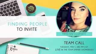 Finding People to Invite by Krystin Scofield