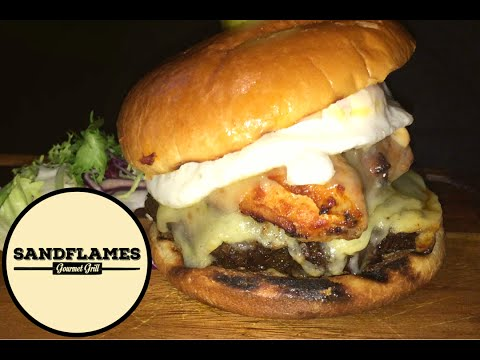 Halal Burgers Review at Sandflames Gourmet Grill - Acton W3
