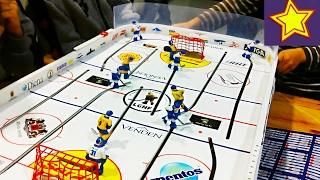 Настольный хоккей для детей и реальная игра СКА Kids video about hockey