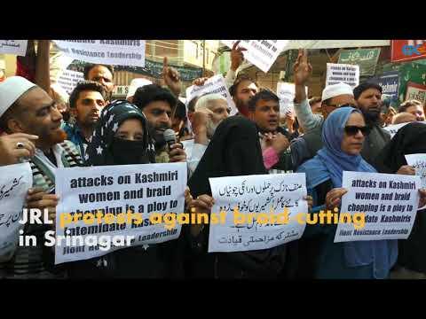 JRL protests against braid-cutting in Srinagar