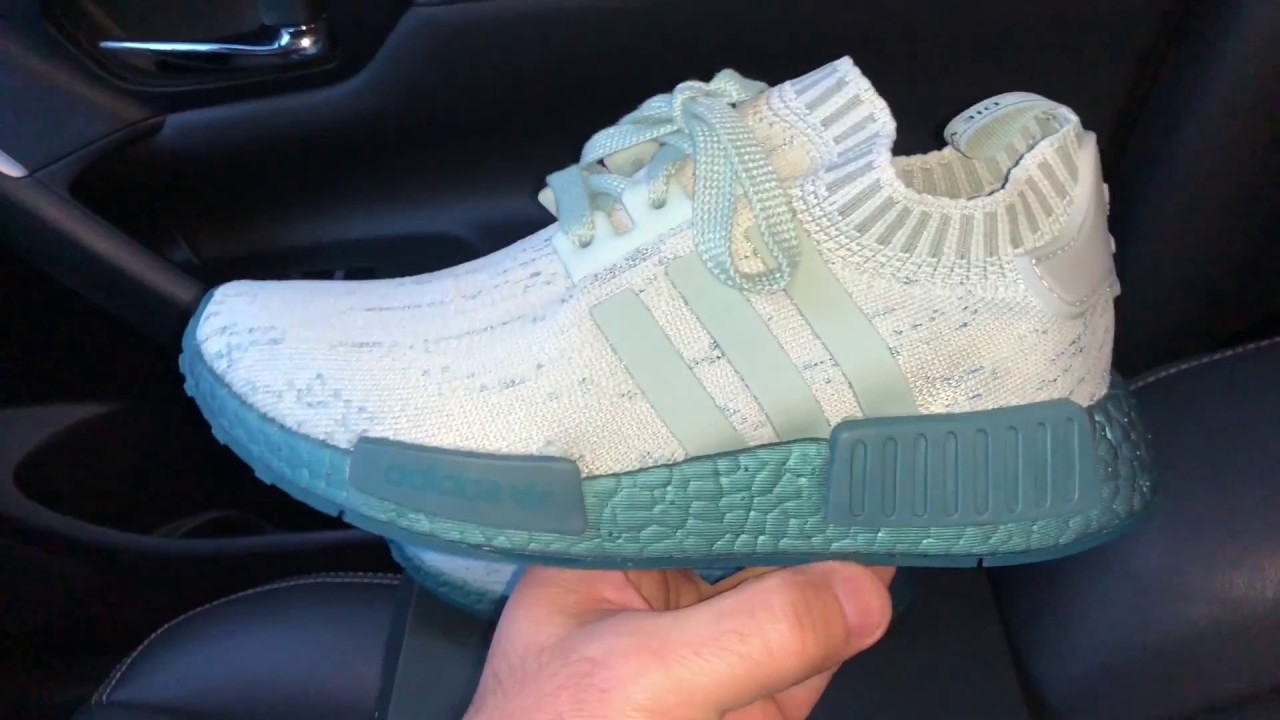 54373ff858dab Adidas NMD R1 Primeknit Green Womens Shoes - YouTube