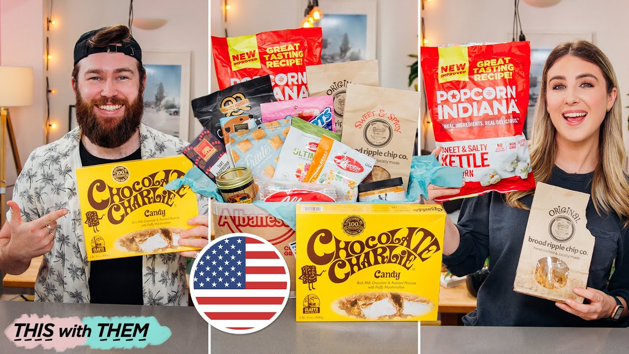 British People Trying American Candy Indiana Edition - This With Them
