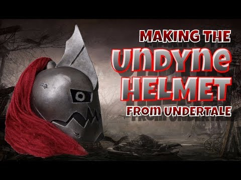 Making the Undyne Helmet from Undertale