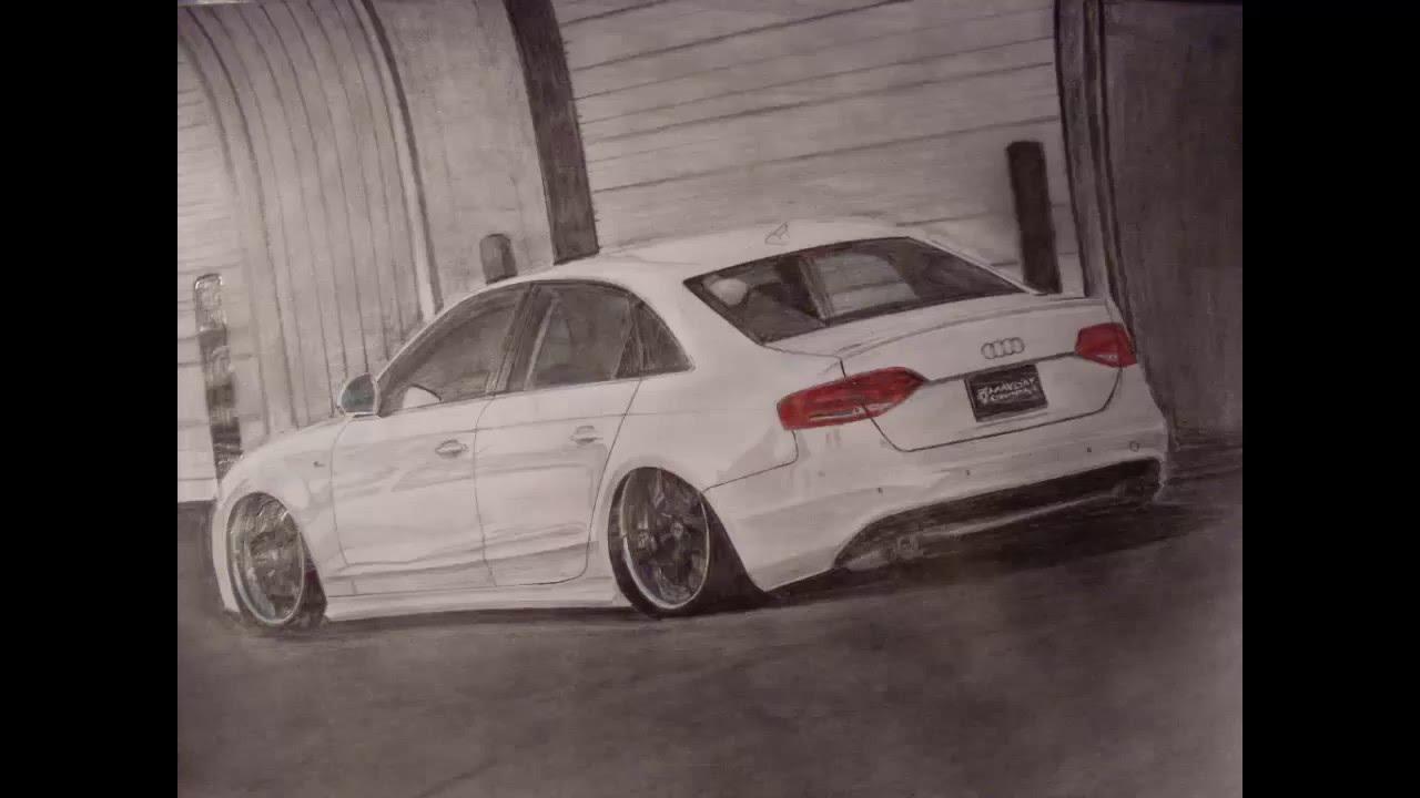 Mayday Garages Slammed Audi A4 B8 Drawing
