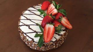 Qulupnayli tort/ торт с Клубникой