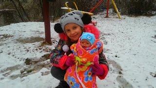 Беби Борн Сережка увидел первый снег