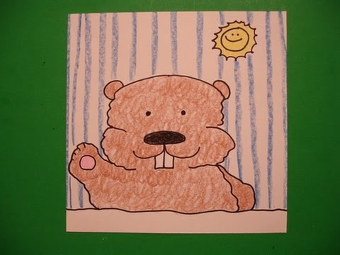 Let's Draw A Groundhog For Groundhog Day!