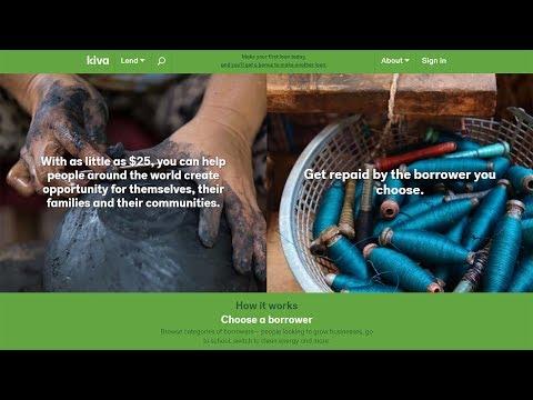 تجربتى مع موقع كيفا (Kiva) للإقراض والتمويل متناهى الصغر