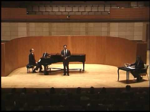 Thomas Hampson Vocal Master Class - Part 1