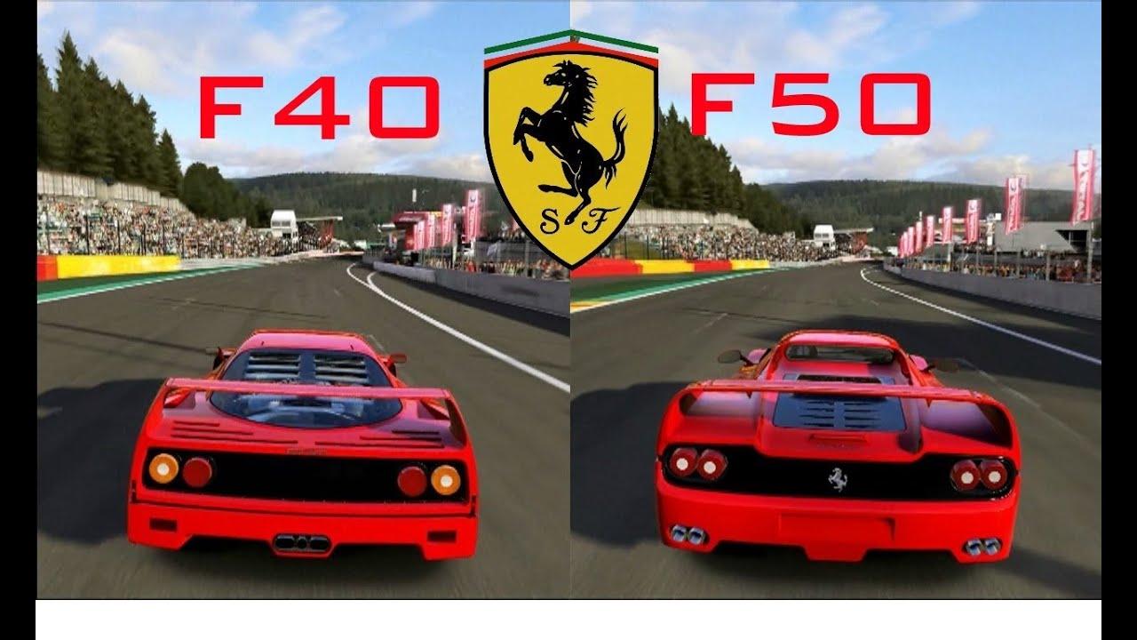 Forza 5 Ferrari F40 Vs Ferrari F50 On Circuit De Spa