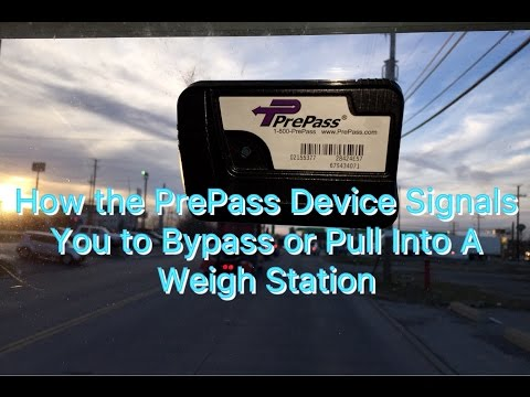 Expediter Team ~ How The PrePass Device Signals You To Bypass Or Pull Into A Weigh Station