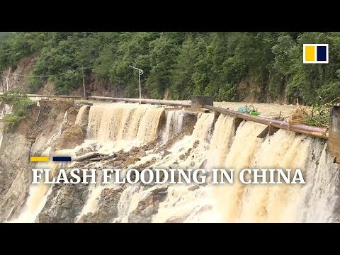 Torrential rain triggers severe flash flooding in several areas of China