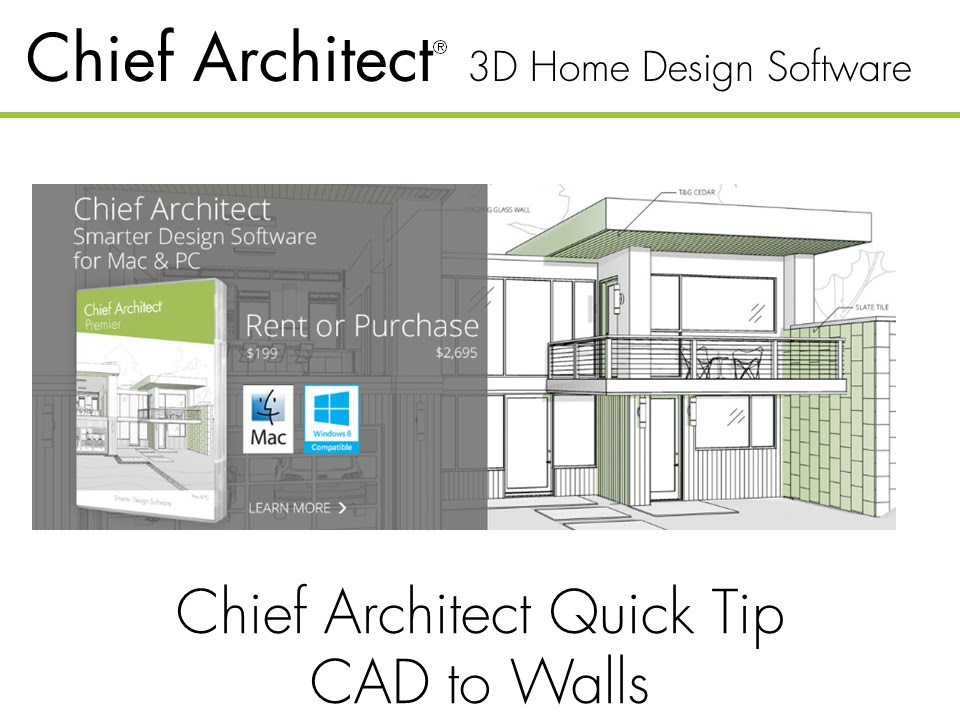 Chief Architect Quick Tip - CAD To Walls