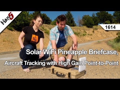 Solar WiFi Pineapple Briefcase, Aircraft Tracking with High Gain Point-to-Point, Hak5 1614