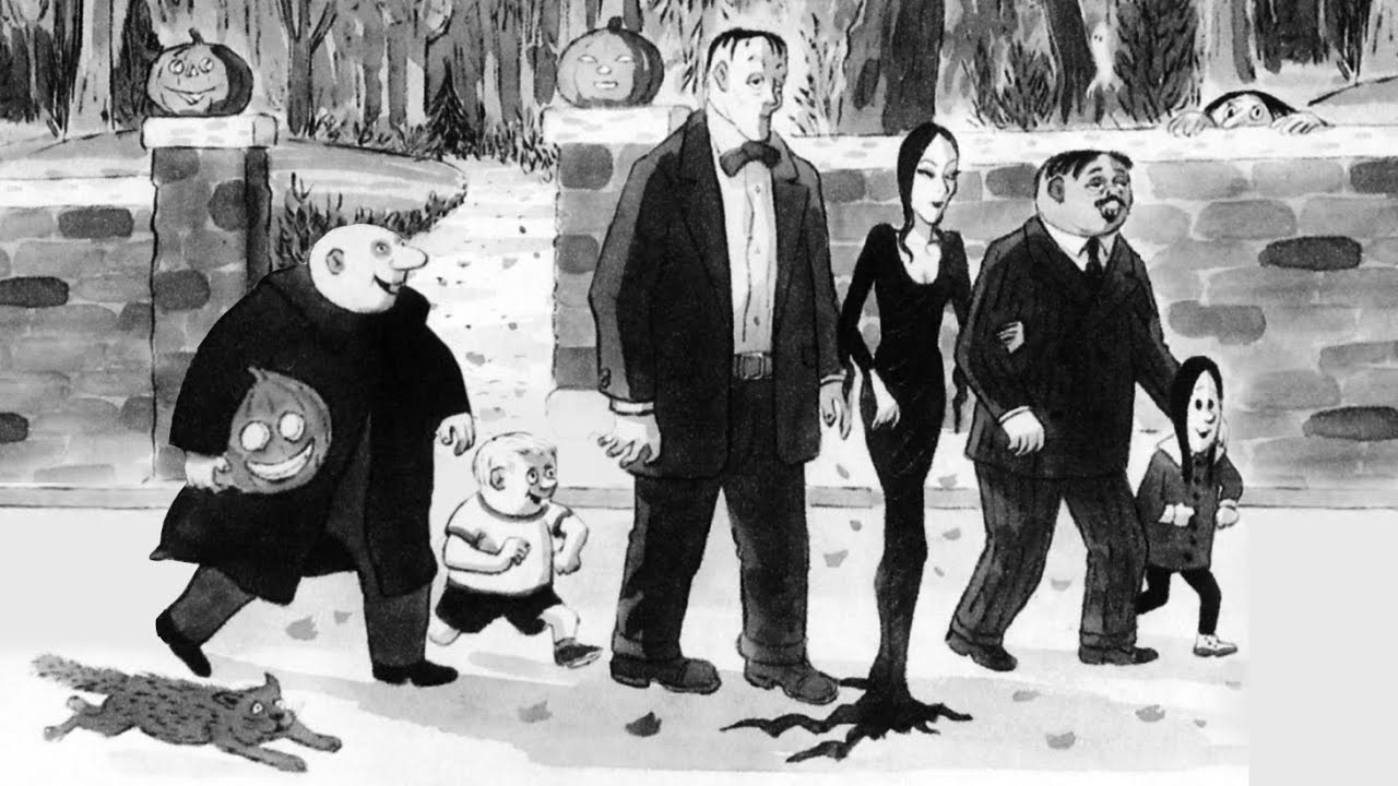 Image result for addams family cartoons new yorker