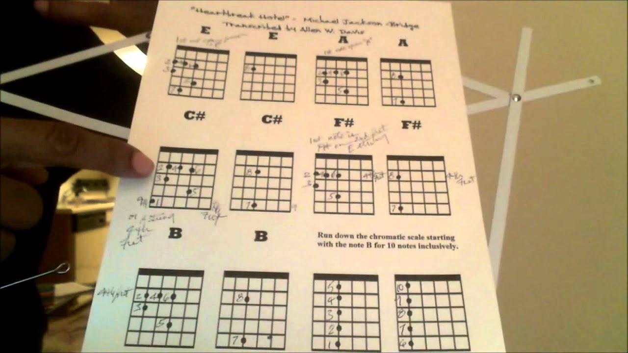 Michael Jacksons Heartbreak Hotel Guitar Tutorial Part Iii Youtube