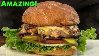 Bacon Crusted Skillet Cheeseburger Recipe!   Bacon Cheeseburger   Ballistic Burgers
