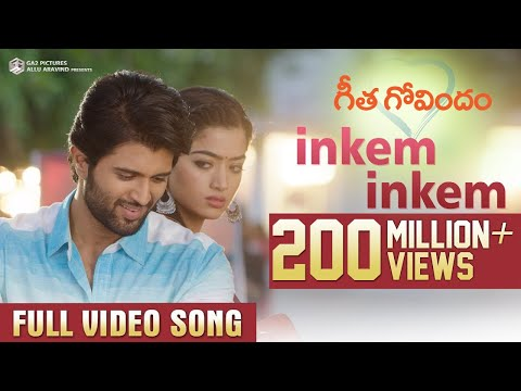 Mix - Inkem Inkem Full Video Song | Geetha Govindam | Vijay Deverakonda, Rashmika, Gopi Sunder