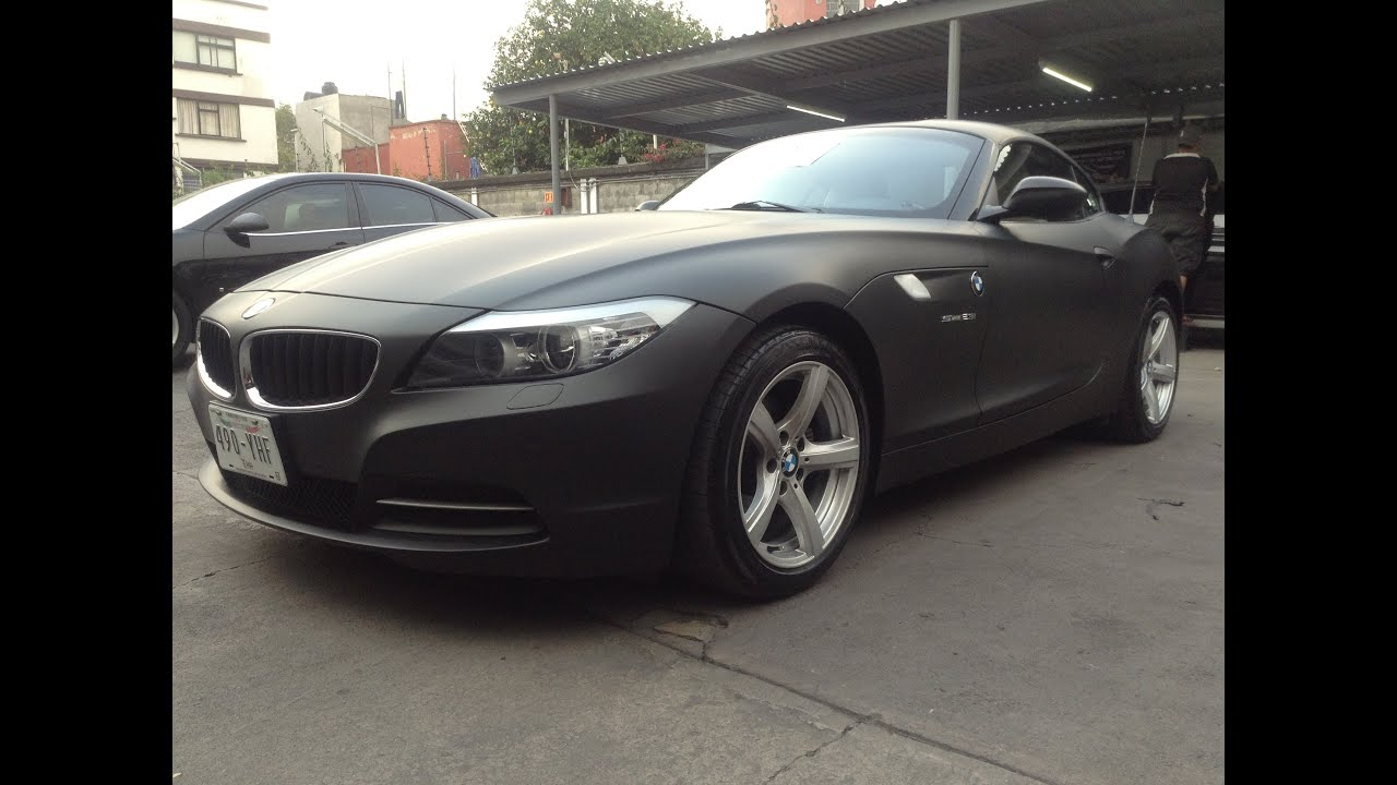 Colocación Vinil Negro Mate 3M, BMW Z4 en México DF - YouTube