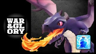 Best TH7 Clan War Attack Strategy: Mass Dragon + Lightning Spells (Clash of Clans). 3 Star Raid.